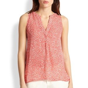 Joie silk Aruna heart print tank blouse